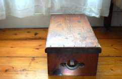 Prayer bench is a comforting treasure when renovating an old home.