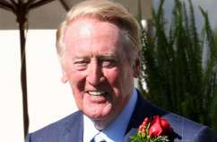 Vin Scully, longtime play-by-play announcer for the Los Angeles Dodgers