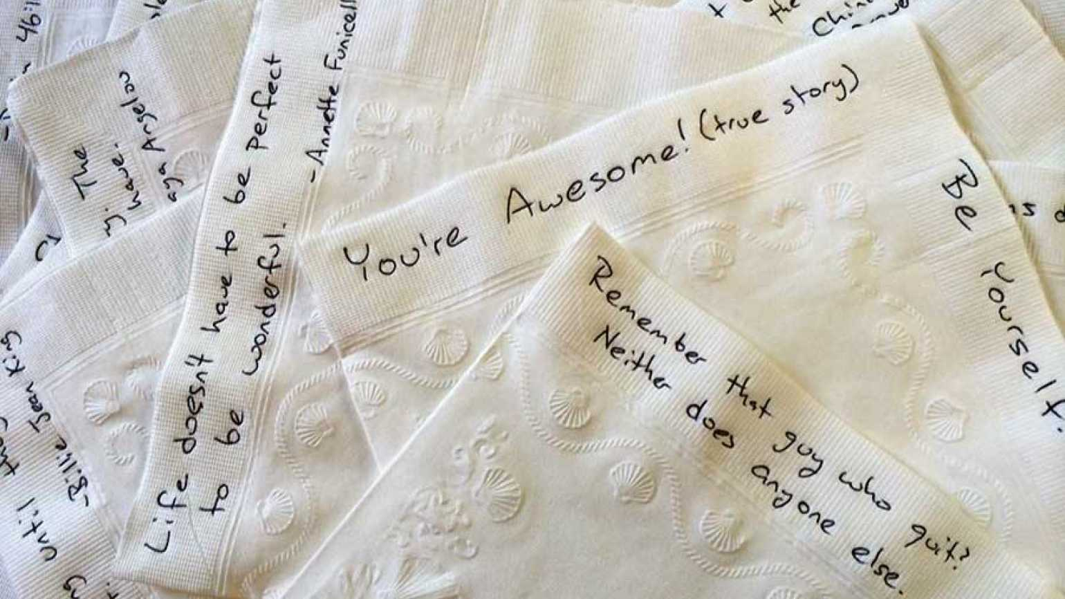 Image result for Napkin Notes of love