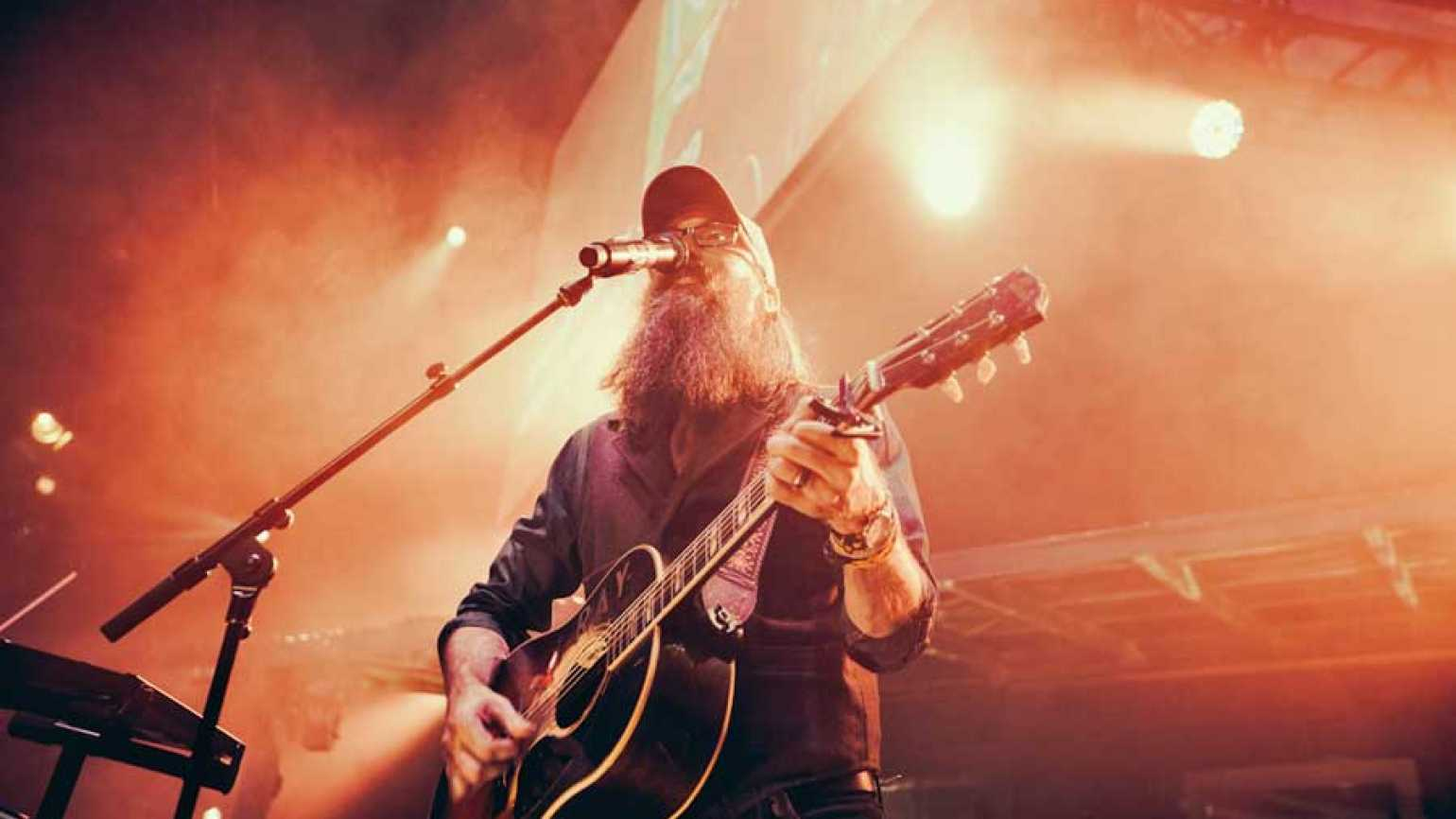 Crowder singing on stage - photo credit: Bobby K Russell