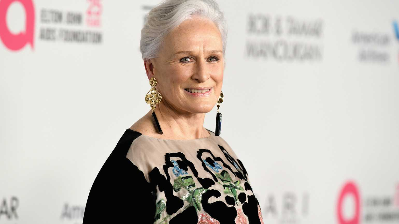Actress Glenn Close on the red carpet.