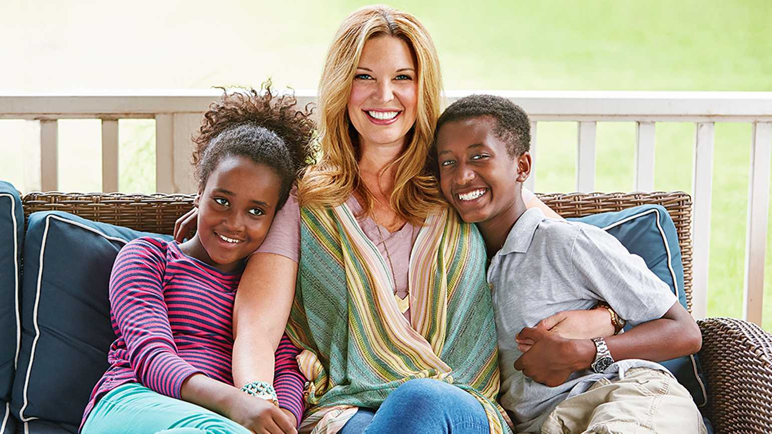 Jen Hatmaker, with her kids Remy and Ben
