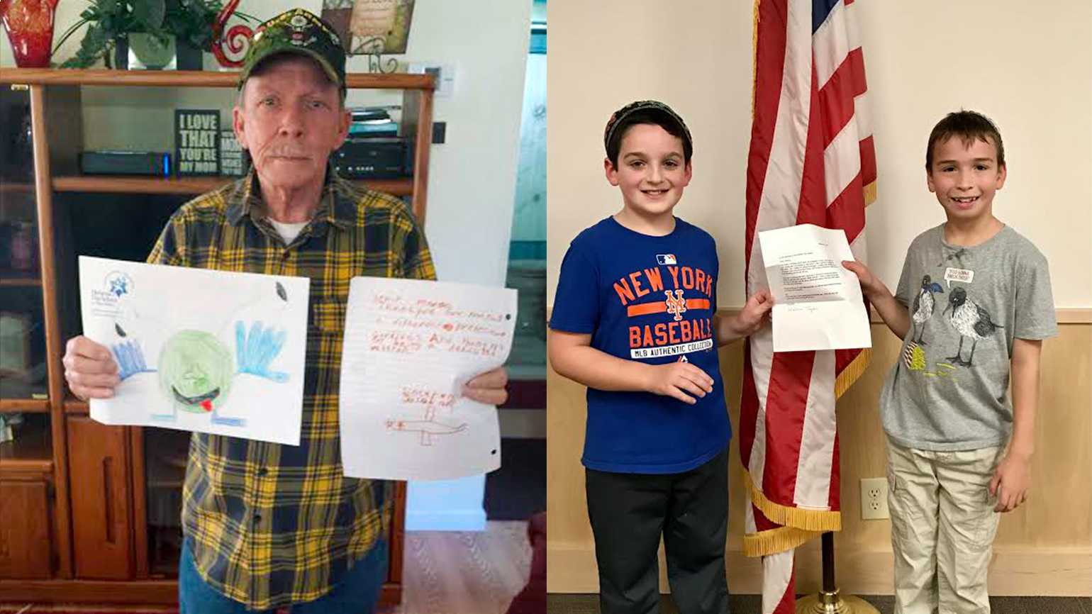 """Vietnam vet William """"Tommy"""" Taylor and his new friends, Jacob and Jordan"""