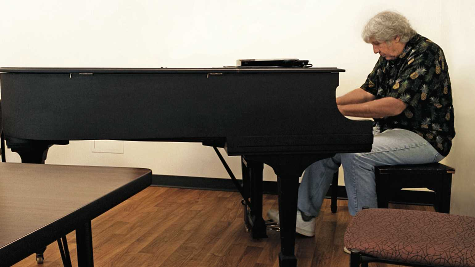 Bill Marinelli feels most at home making music on a piano