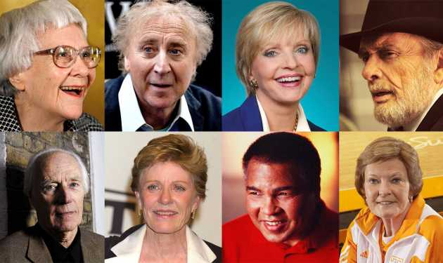 Some of the notable individuals who passed away in 2016