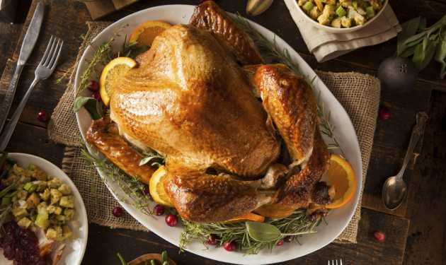 Guideposts: A well-dressed Thanksgiving turkey awaits some of the side dishes from our collection of favorite Thanksgiving recipes