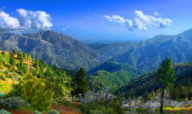 A view from the Pacific Crest Trail, which traverses California, Oregon and Washington