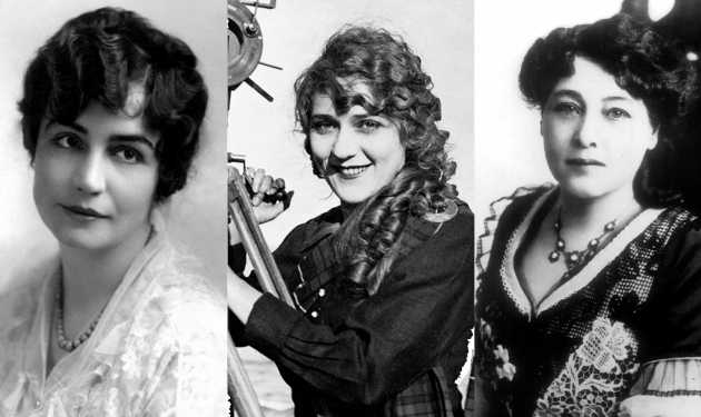 Film pioneers Lois Weber, Mary Pickford and Alice Guy-Blaché