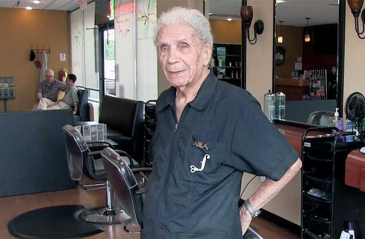 Anthony Mancinelli, the world's oldest working barber