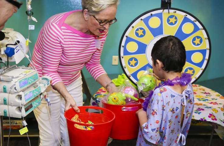 Judi Blankenbaker at a recent Guideposts Foundation event at Phoenix Children's Hospital.