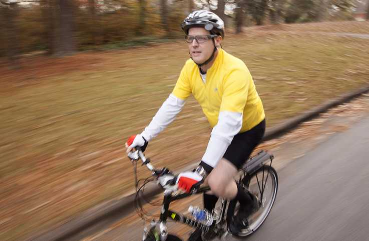 Guideposts: Bicycling is one way Doug Gamble avoids stress.