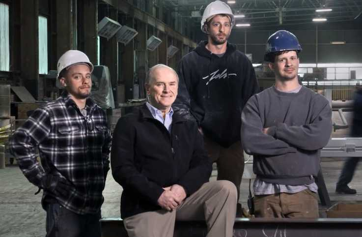 George Vorel (center) with some of his employees