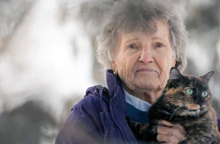 Ruby Stein with her cat, Nikki