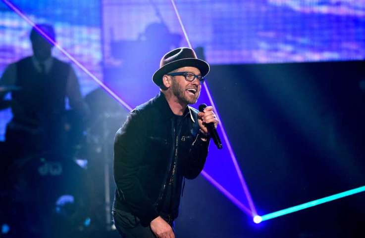 TobyMac performs at the K-LOVE Fan Awards show