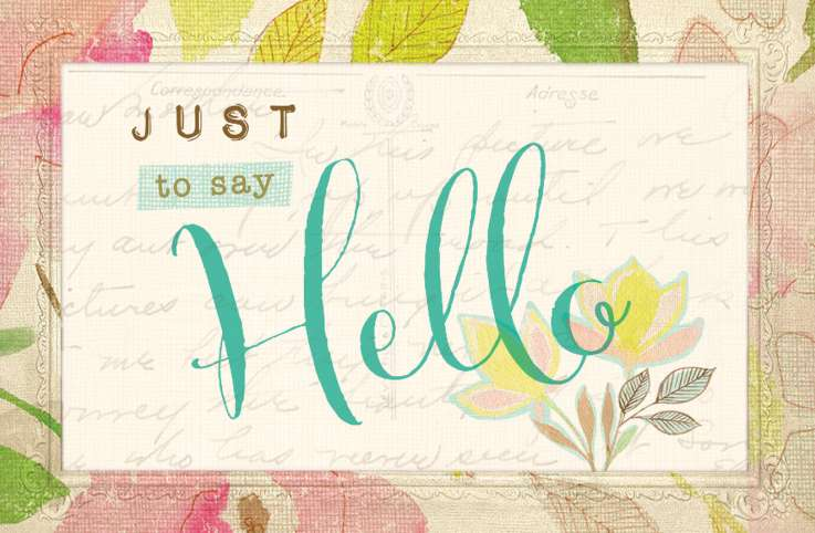 """Just to Say Hello"" August cover"