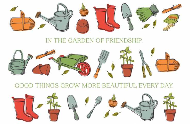 "Cover of ""The Gift of Friendship"" greeting card"