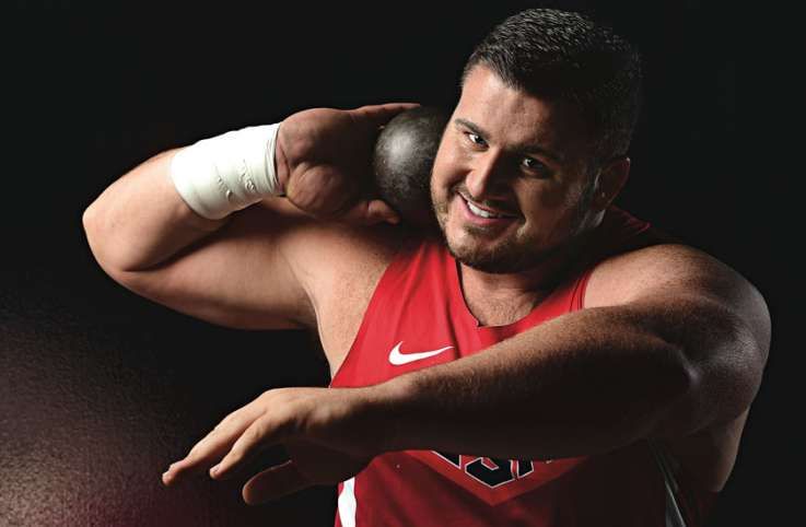 Joe Kovacs, who will represent the USA in the Rip Olympics in the shot put competition