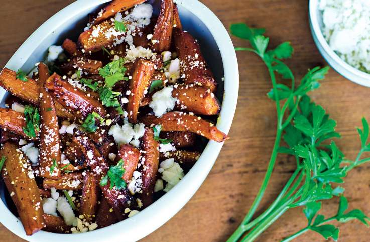 Candied Carrots with Feta