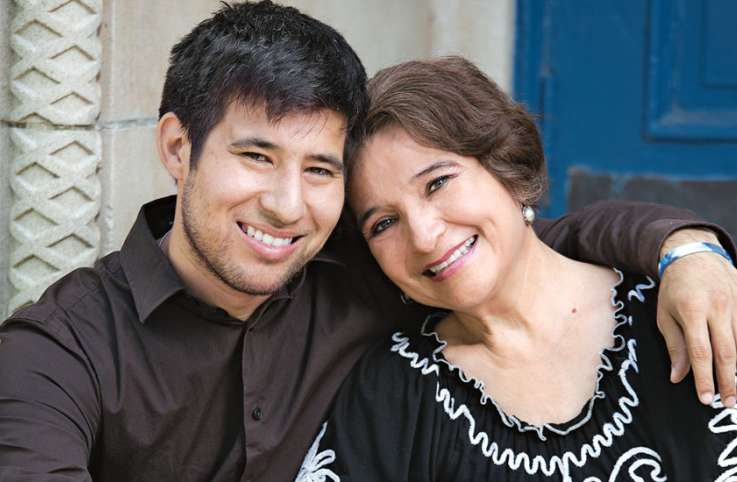 Carmen Escamilla and her son Cande