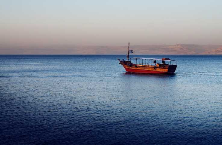 Fishing boat on the Sea of Galilee