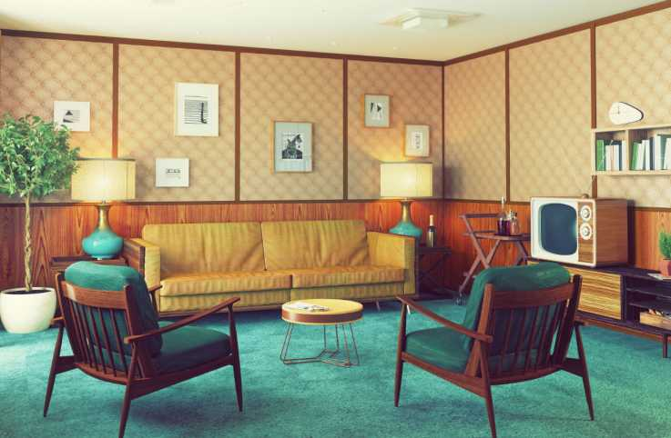 1960s style living room