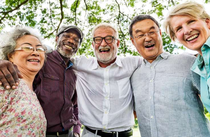 A group of happy, active seniors