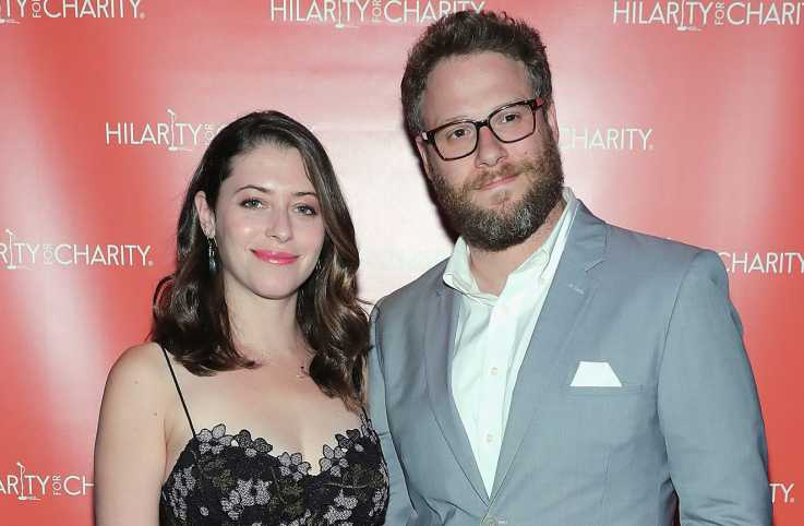 Seth Rogen and Lauren Miller Rogen at an Hilarity for Charity event