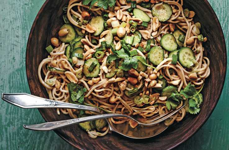 Cold Sesame Noodles With Cucumber
