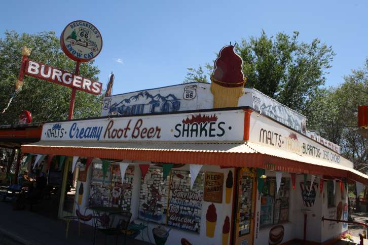 Guideposts: The Snow Cap Drive-in in Seligman, Arizona