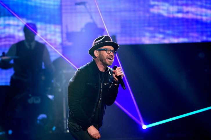 TobyMac performs at the K-LOVE Fan Awards