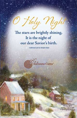 Guideposts: O Holy Night, the stars are brightly shining. It is the night of our dear Savior's birth--traditional carol by Adolphe Adam.