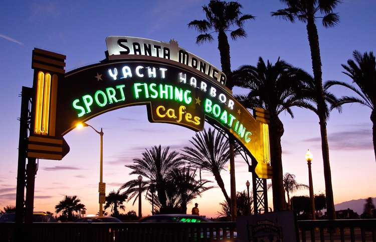Guideposts: The now familiar entry arch to the Santa Monica pier, frequently seen in movies and television programs