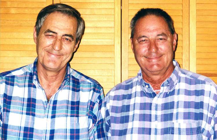 Twin brothers Jim Springer and Jim Lewis