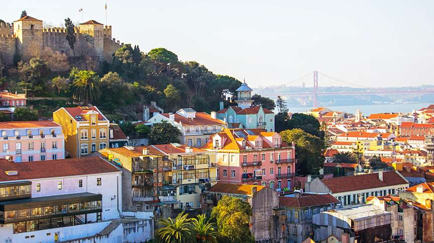 Lisbon, Portugal's capital, is set on seven hills overlooking the Tagus River.