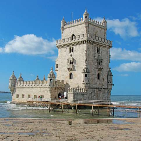 Lisbon's Belem Tower, a UNESCO World Heritage site, stands watch where great navigators once set forth.
