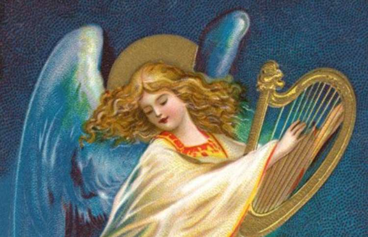 Angel with a harp