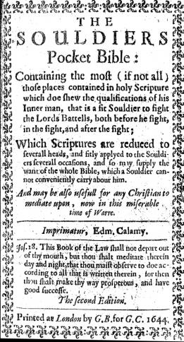 A page from the Cromwell Bible