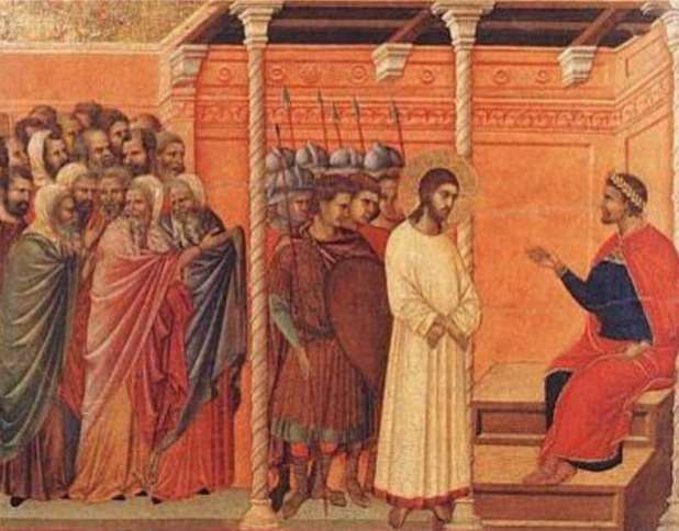 Duccio: Jesus Delivered to Pilate
