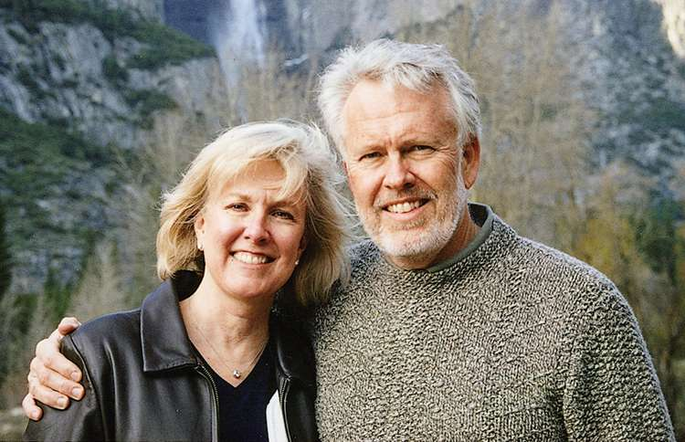 Janis and Max in Yosemite, the year before he was diagnosed with esophageal cancer.