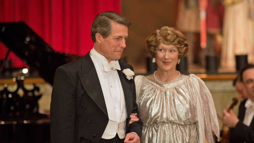 "Hugh Grant and Meryl Streep in ""Florence Foster Jenkins"""