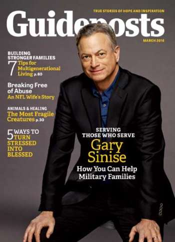Gary Sinise, Guideposts magazine cover March 2016