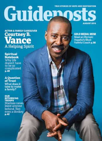Actor Courtney B. Vance on the cover of the August 2016 edition of Guideposts