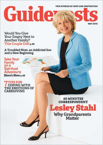 Award-winning 60 Minutes correspondent Lesley Stahl on the cover of the May 2016 Guideposts