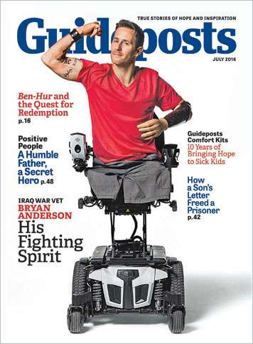 Iraq veteran Bryan Anderson on the cover of the July 2016 edition of Guideposts