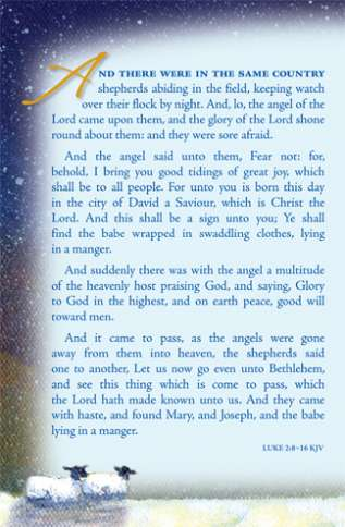 The text of Luke 2:8-16, as found in the King James Version of the Bible