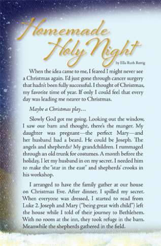 Guideposts: A brief story called Homemade Holy Night