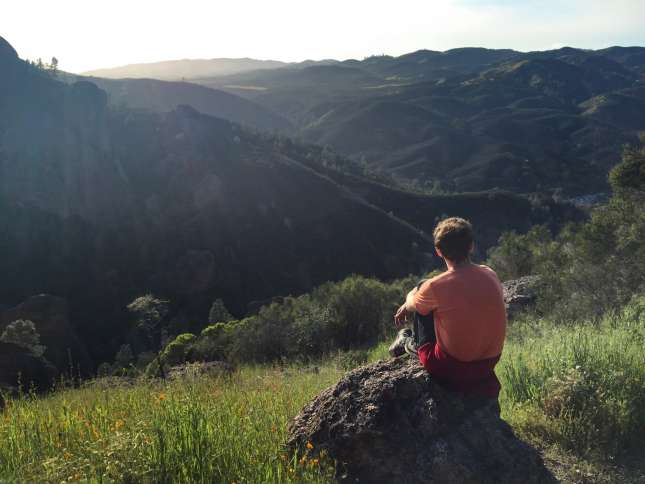 Dan Hoffman takes in the view at Pinnacles State Park.