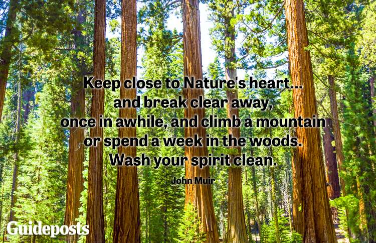 Keep close to Nature's heart... and break clear away, once in a while, and climb a mountain or spend a week in the woods. Wash your spirit clean. -John Muir