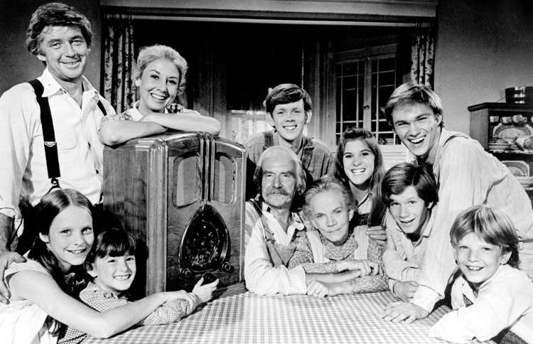Ralph Waite (upper left) as John Walton, Sr. in The Waltons