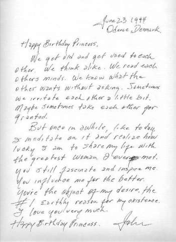 Johnny Cash's letter to wife June